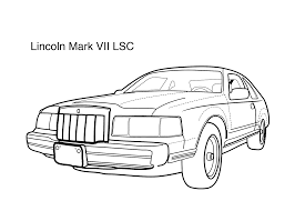 lincoln coloring pages lincoln marc vii lsc coloring page coloring pages pinterest