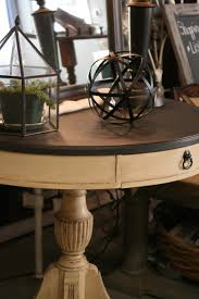 painting a table with chalk paint reloved rubbish leather topped table chalk paint makeover