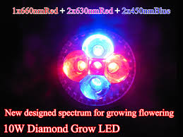 red and blue led grow lights save grow led 10w high power led grow light lens red