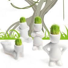 cadeau bureau homme figurine diy blanc homme magique herbe plantation créative cadeau