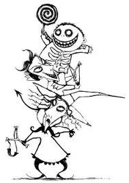 nightmare christmas coloring pages bing images