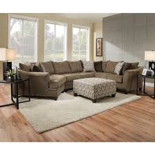 Simmons Ottoman Simmons Upholstery Albany Truffle Sectional With Ottoman Free