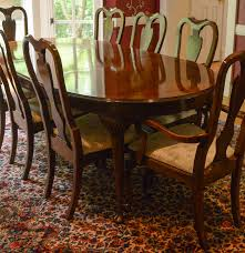 Drexel Heritage Mahogany Dining Room Table And Chairs  EBTH - Drexel heritage dining room set