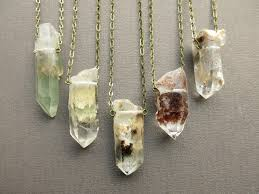 crystal quartz necklace pendant images Raw crystal necklace raw quartz necklace healing crystal jpg