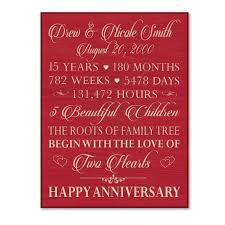 15 year anniversary gift for him wedding anniversary gifts 55 years lading for