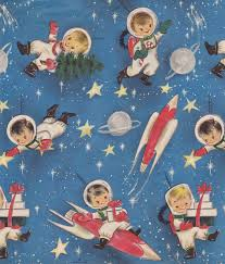 space wrapping paper vintage christmas wrapping paper vintage christmas