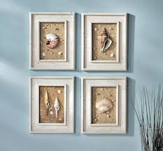 Wall Art Ideas For Bathroom Framed Seashells Coastal Beach Wall Art I Have These In My