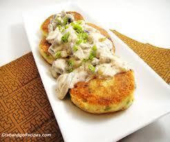 Main Dish With Sauce - potato cake recipe with mushroom sauce картофельные котлеты с