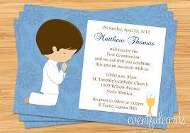 communion invitations boy communion invitation for boy brown hair communion