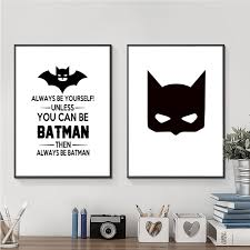 popular decorative wall masks buy cheap decorative wall masks lots nordic canvas art print painting posters of batman mask and quote unframed modern simplicity wall