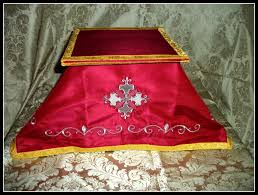 chalice veil embroidered silk chalice veil with matching burse