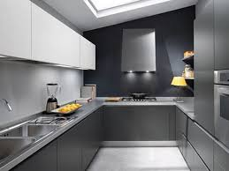 Simple Kitchen Interior Design Grey And White Modern Kitchen Cabinet Top Mount Stainless