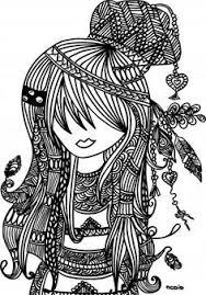 free printable coloring female doodles woodstock
