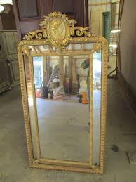 Gold Vanity Mirror Antique French Trumeau Mirrors Large Wall Dresser Oval And