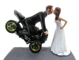 motorcycle wedding cake toppers1 motorcycle wedding cake