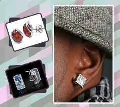 types of earrings for men square earrings for guys 9 types of earrings for guys to give them