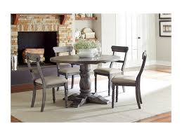 Turned Pedestal Bistro Table Progressive Furniture Muses Round Dining Table With Turned