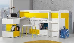 lit avec bureau coulissant lit combine avec bureau coulissant et commodes yello mobiler