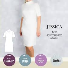 pattern dress pdf jessica knit turtle neck bodycon midi dress pdf sinclair patterns