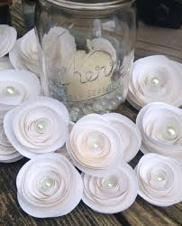 wedding flowers kerry paper flowers white roses set of 22 paper roses wedding flowers