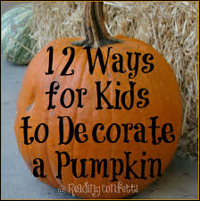 12 ways to decorate halloween pumpkins kid u0027s co op reading confetti