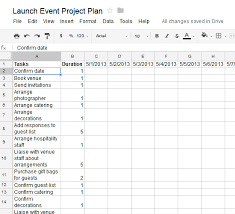how to create an actionable project plan using a google spreadsheet