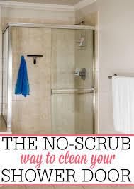 No Shower Door The No Scrub Way To Clean Your Shower Door Frugally