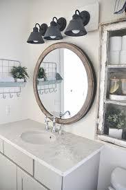 innovative affordable vanity lighting diy farmhouse bathroom