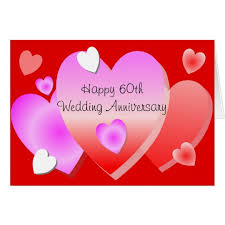 60th wedding anniversary wishes happy 60th wedding anniversary card hearts zazzle