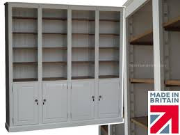 Large White Bookcase by White Painted U0026 Oak Bookcase 7ft Tall Heavy Duty Shelving Unit