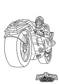power rangers spd super cool motorcycle coloring power