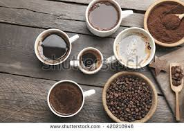 Types Of Coffee Mugs Different Types Coffee Cups On Dark Stock Photo 409754737