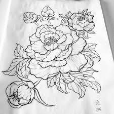 Flower Designs For Drawing Best 25 Flower Outline Tattoo Ideas On Pinterest Forearm Flower