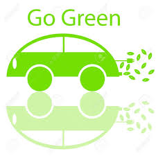 electric vehicles symbol go green eco friendly electric car with electrical plug and leaf