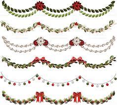 classic christmas garlands stock vector art 165943725 istock