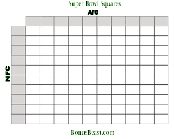 Football Squares Template Excel Square Template Printable Nfl Weekly Square Grid Office