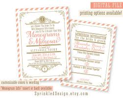 custom bridal shower invitations customized bridal shower invitations kawaiitheo