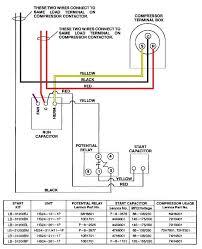 100 run capacitor wiring diagram single phase hermetic