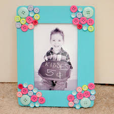 button photo frame fun family crafts