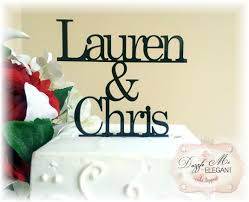name cake topper groom name cake topper wedding cake topper