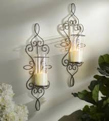 Kirklands Wall Sconces by Harrison Scroll Sconces Set Of 2 Metals Wrought Iron And Wall