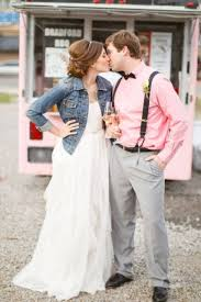 wedding dress jacket 23 ways to rock a denim jacket at your wedding weddingomania