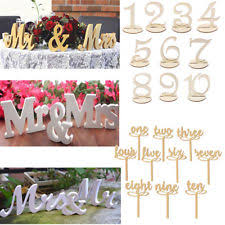 mr and mrs table decoration wooden mr mrs ebay