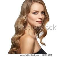 beautiful blonde portrait woman face stock photo 583098358
