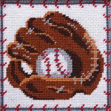 peterson baseball glove needlepoint kit 5013 123stitch