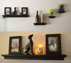 livingroom shelves floating glass wall shelves for living room