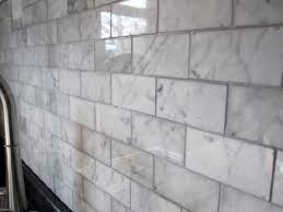Carrara Subway Tiles Home Depot Square Foot WHAT Who - Marble backsplashes