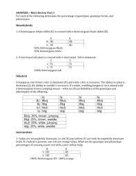 Dihybrid Crosses Worksheet Dihybrid Cross Worksheet