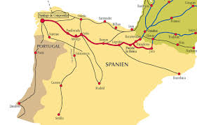 Burgos Spain Map by Camino De Santiago Routes In Spain
