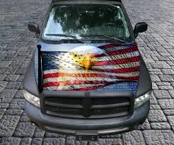 American Flag On Truck Vietnam Tribute American Flag Eagle Vinyl Graphic Decal Hood Wrap